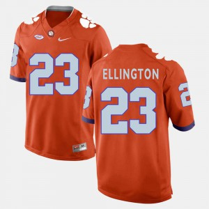 Orange For Men's #23 College Football Clemson Tigers Andre Ellington Jersey Embroidery 239636-208
