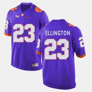 High School Purple #23 Men College Football Clemson Andre Ellington Jersey 761586-670