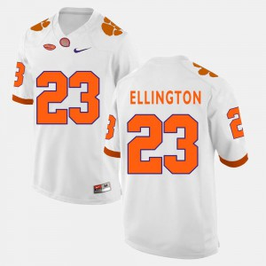 White #23 Embroidery Clemson Andre Ellington Jersey Men's College Football 343262-790
