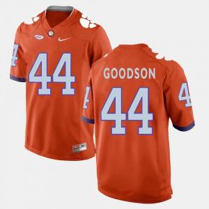Men #44 College Football Orange College Clemson Tigers B.J. Goodson Jersey 155075-149