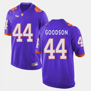 Stitched College Football #44 CFP Champs B.J. Goodson Jersey Purple For Men's 405559-402