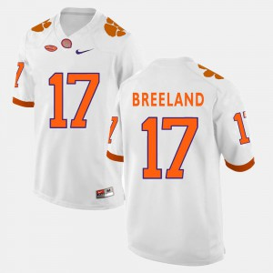 Mens White Stitch Clemson Tigers Bashaud Breeland Jersey #17 College Football 938437-788