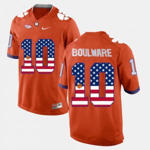 #10 Men Player Orange CFP Champs Ben Boulware Jersey US Flag Fashion 890558-330