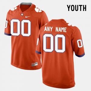 High School College Limited Football Youth(Kids) Orange Clemson Custom Jerseys #00 801296-724