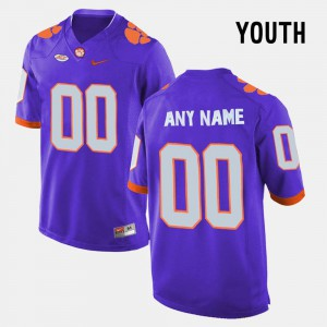 Official Purple College Limited Football Clemson National Championship Customized Jersey #00 Kids 564980-764
