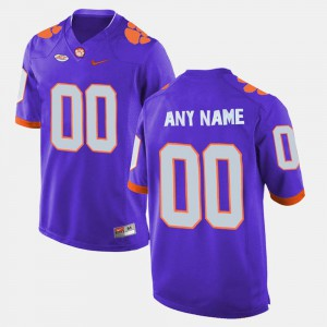 #00 Embroidery Clemson National Championship Custom Jersey Purple College Limited Football For Men's 610782-279