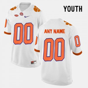 Clemson University Custom Jersey For Kids Official White College Limited Football #00 136302-670