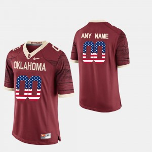 Crimson Sooner Customized Jersey #00 Alumni Men US Flag Fashion 787937-591
