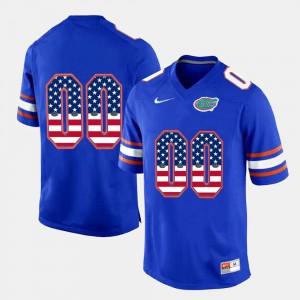 UF Custom Jerseys Alumni Royal Blue US Flag Fashion #00 Men 588201-337