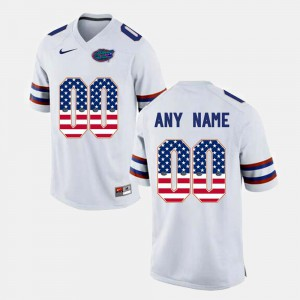 US Flag Fashion University of Florida Customized Jersey White For Men Official #00 394755-556