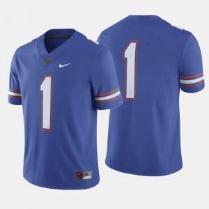 UF Jersey Royal Blue For Men College Football #1 Alumni 827381-624