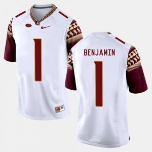 College Football Florida State BKelvin Benjamin Jersey For Men White #1 Alumni 273695-696