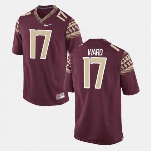 Stitched #17 Men's Alumni Football Game Garnet Seminole Charlie Ward Jersey 403022-867