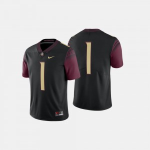 #1 Embroidery Florida State Jersey Black College Football For Men's 277012-448