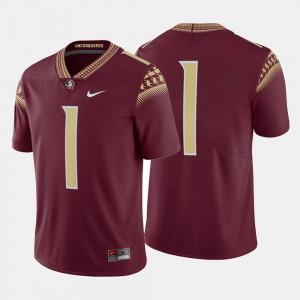 High School College Football #1 Mens FSU Seminoles Jersey Garnet 398129-851