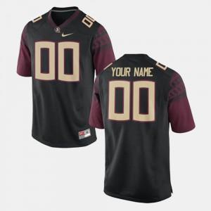 Seminoles Customized Jersey College Football #00 Black Player Men's 858273-727