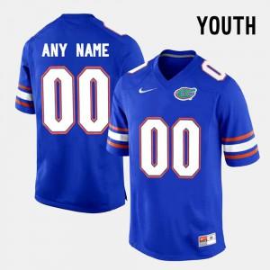 University Seminole Custom Jersey #00 Blue College Limited Football For Kids 980191-628