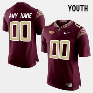 High School #00 For Kids College Limited Football Red Florida State Customized Jerseys 742337-465