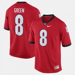 For Men's Alumni Football Game #8 Embroidery Red Georgia Bulldogs A.J. Green Jersey 471394-273