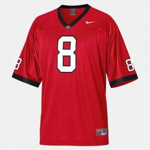 For Men GA Bulldogs A.J. Green Jersey Stitch #8 Red College Football 996007-293