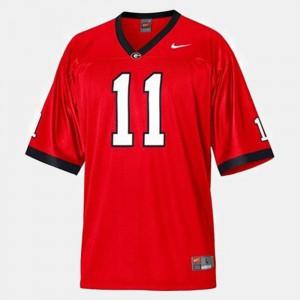 College Football Red #11 University of Georgia Aaron Murray Jersey High School Kids 651794-952