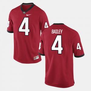 Georgia Bulldogs Champ Bailey Jersey For Men #4 High School Red Alumni Football Game 756869-610