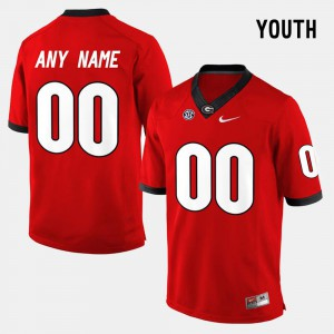 Stitched College Limited Football Kids #00 Red University of Georgia Custom Jerseys 660738-536