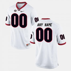 White #00 College Limited Football NCAA For Men's GA Bulldogs Customized Jersey 826952-654