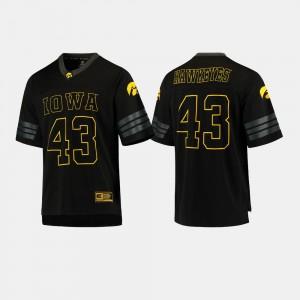 Hawkeyes Jersey #43 Men NCAA Black College Football 786294-993