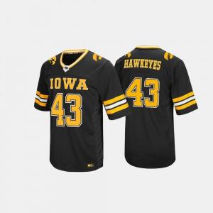 #43 For Men University Black Hail Mary II University of Iowa Jersey 410175-347