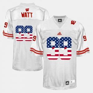 US Flag Fashion Official White Men's Badger J.J. Watt Jersey #99 714798-639