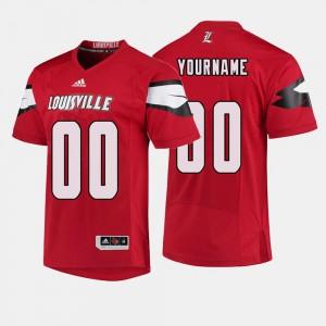 College Football High School UofL Custom Jersey #00 Mens Red 504779-837
