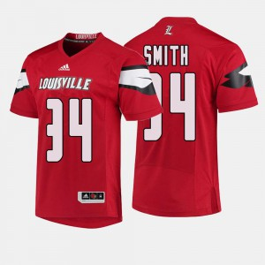 Louisville Jeremy Smith Jersey Red For Men's College Football #34 College 958637-664