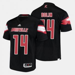 Black Men Player Louisville Kyle Bolin Jersey #14 College Football 729889-923