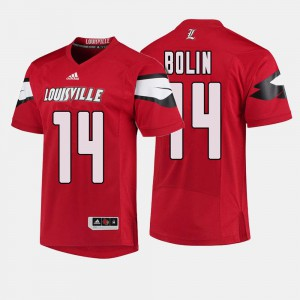 Mens College Football Louisville Cardinal Kyle Bolin Jersey #14 Red University 879928-259