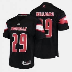 #29 Black U of L Malik Williams Jersey College Football Mens High School 313793-456