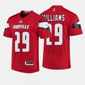 University Of Louisville Malik Williams Jersey Mens College Football Alumni Red #29 333221-985