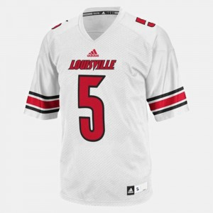 High School #5 Louisville Cardinals Teddy Bridgewater Jersey Youth College Football White 840554-272
