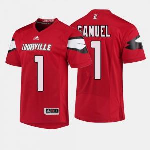 Louisville Cardinals Traveon Samuel Jersey #1 For Men College Football High School Red 340690-922