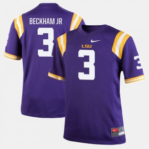 Louisiana State Tigers Odell Beckham Jr Jersey #3 Official Alumni Football Game For Men Purple 347795-320
