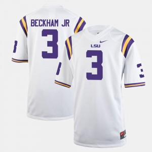 LSU Odell Beckham Jr Jersey College Alumni Football Game #3 White For Men 554373-517