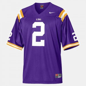 Youth Purple Tigers Rueben Randle Jersey #2 Embroidery College Football 528136-892
