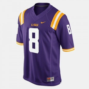 College College Football #8 LSU Zach Mettenberger Jersey Purple Youth(Kids) 876325-816