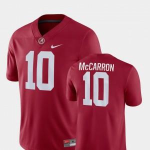 Bama AJ McCarron Jersey NCAA Game #10 Crimson Men's College Football 630278-249