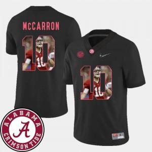 Stitch Black Football Alabama AJ McCarron Jersey #10 Mens Pictorial Fashion 276868-476