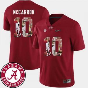 NCAA For Men's Pictorial Fashion Crimson Alabama Roll Tide AJ McCarron Jersey #10 Football 891635-936