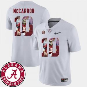 Alabama AJ McCarron Jersey For Men's Pictorial Fashion Official #10 White Football 552525-953