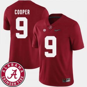 College Football Crimson 2018 SEC Patch Alabama Crimson Tide Amari Cooper Jersey Official #9 Men 116535-375