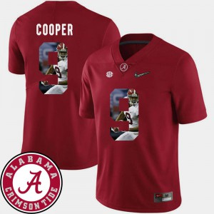 Stitch Men's Crimson Pictorial Fashion University of Alabama Amari Cooper Jersey Football #9 697454-482