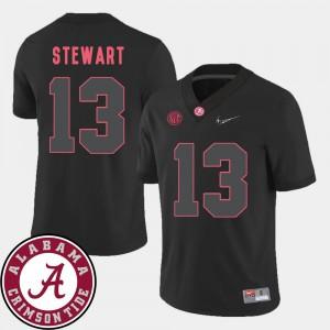 Bama ArDarius Stewart Jersey Embroidery College Football #13 Black Men's 2018 SEC Patch 390615-316